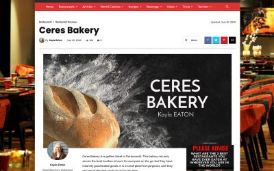 Ceres Bakery: A Bright Blue in the Middle of Portsmouth
